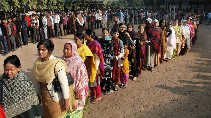 Voting goes on in over 150 union parishads
