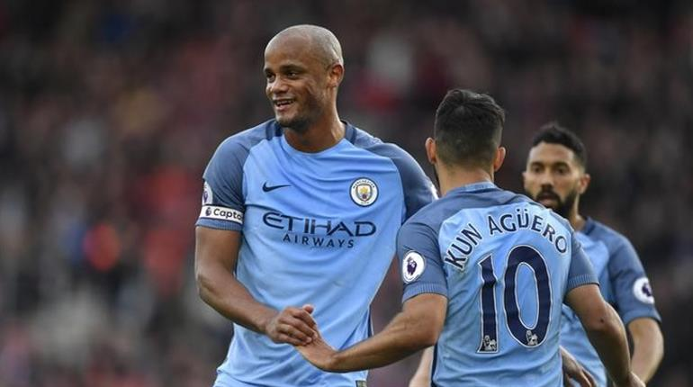 Kompany scores as Manchester City climb to third with 3-0 Southampton victory