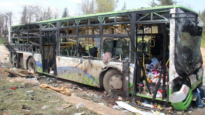 126 dead in Syrian bus bombing