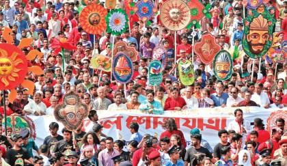 Nation bursts into Pahela Baishakh celebrations