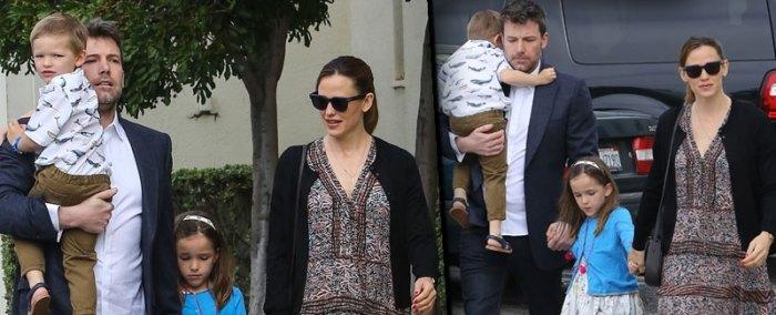 Ben Affleck and Jennifer Garner spend Easter together following divorce filing