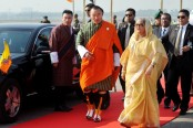 PM accorded red carpet reception in Bhutan