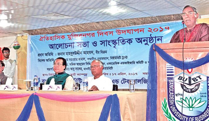 Marking the historic Mujibnagar Day