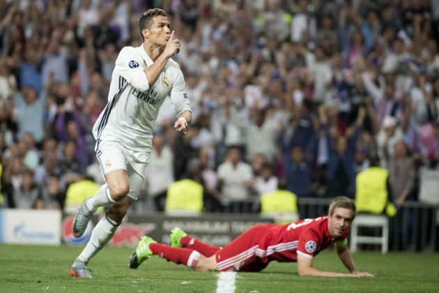 Cristiano Ronaldo hits hat-trick as Real Madrid down 10-man Bayern Munich