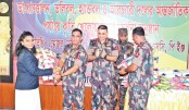 Border Guard Bangladesh accords reception to athletes