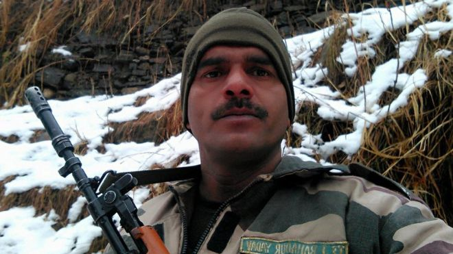 India 'bad food' video soldier sacked