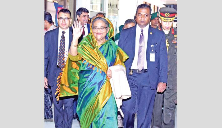 PM return from Bhutan