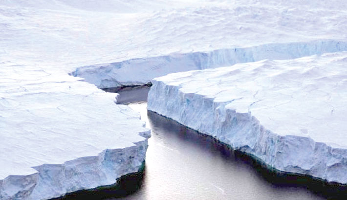 Antarctic meltwater lakes threaten sea levels
