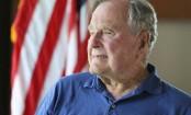 George HW Bush still in hospital; George W Bush visits