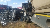 20 children killed as minibus hits truck in South Africa