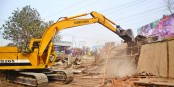 50 shops, shanties demolished in city