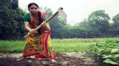 Bhabna digs earth with spade in drama 'Jar'