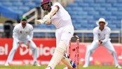West Indies trails Pakistan by 28 runs with 6 wickets left