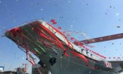 China launches first domestically built aircraft carrier: media