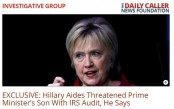 Hillary aides threatened joy with tax audit