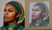 Artist in trouble over Michelle Obama mural