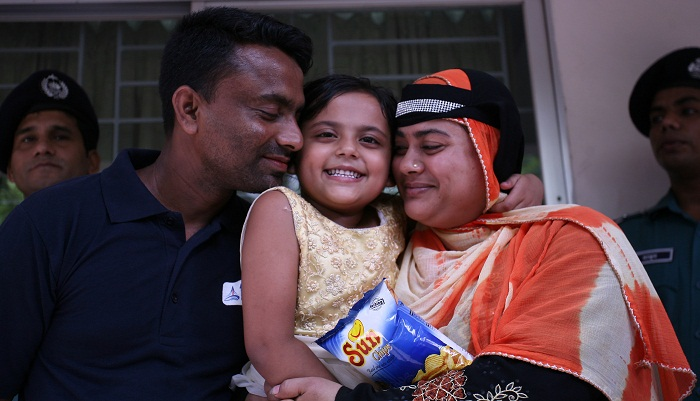 Sumaiya reunites with parents after 24 days
