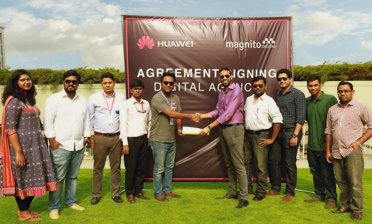 Huawei signs agreement with Magnito Digital for digital agency partnership in bangladesh