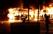 Buses torched, roads blocked, clashes during Brazil strike
