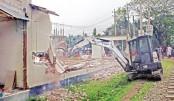 Demolishing illegal structures