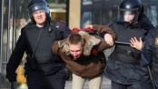 Dozens detained over anti-Putin protests
