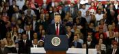 Donald Trump attacks US media at 100-day Pennsylvania rally