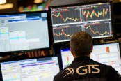 European stocks up, US stocks at records ahead of French vote