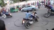 Bike stunts, races turn Hatirjheel risky