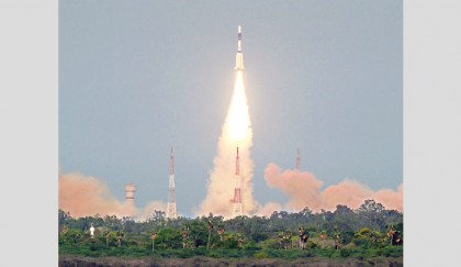South Asia Satellite blasts off