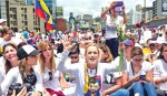 Women march against Maduro