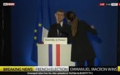 Emmanuel Macron caught practicing election victory speech on live TV (Video)