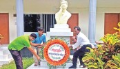 The Sukanta Fair Observance Council places a wreath at the monumen