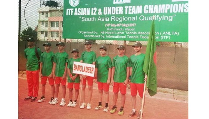 Bangladesh Boys team beat Pakistan in ITF Asian 12 and Under Tennis