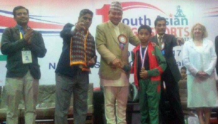 Bangladeshi boy Rohan wins gold in South Asian Yoga
