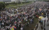 Venezuelans again shut down capital to protest government