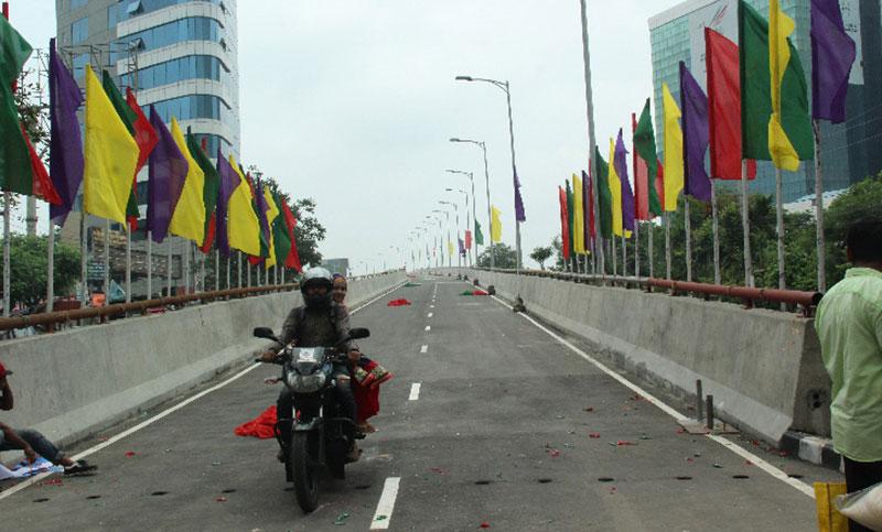 Hatirjheel-Sonargaon flyover opens to traffic