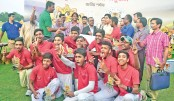 Baliyapukur Bidya Niketan seal School Cricket title
