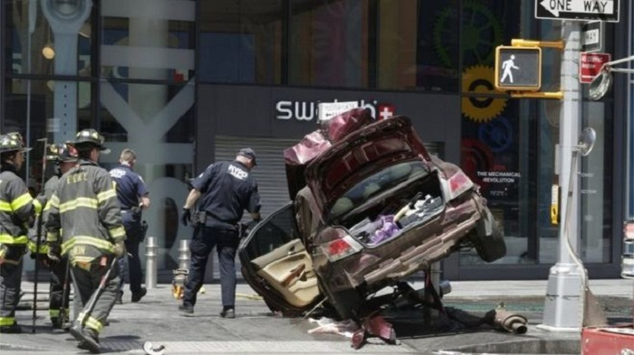 One dead, 19 injured in Times Square car accident