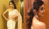 Shilpa Shetty gives a modern and glamorous twist to a sari