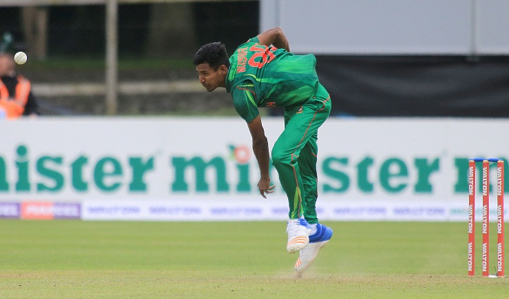 Mustafizur four restricts Ireland to 181