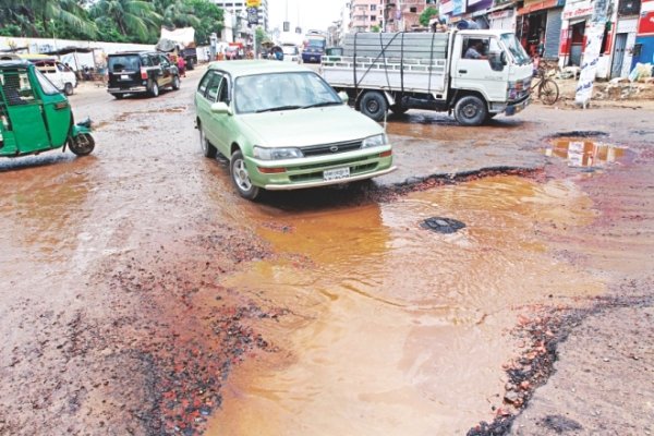 Jatrabari-Demra Route: Dilapidated road makes life difficult