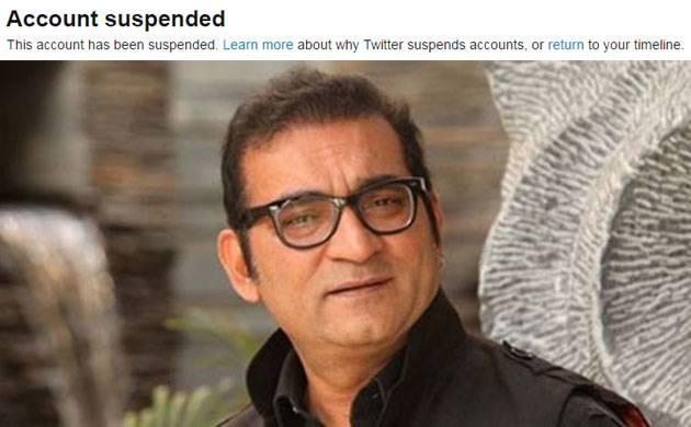 Twitter suspends Indian singer Abhijeet Bhattacharya's account after offensive tweets