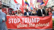 Trump in Brussels for 'tough' Nato talks amid protests