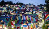 Indonesia's 'rainbow village' becomes an internet sensation