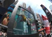 Aquarium art brings climate debate to  New York Times Square