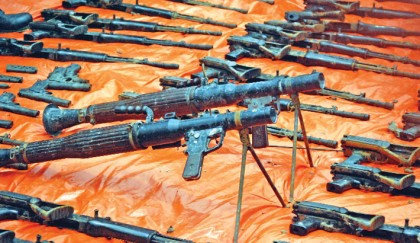 Huge arms, ammo seized at Rupganj
