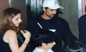 Hrithik Roshan and Sussanne Khan watch a movie together