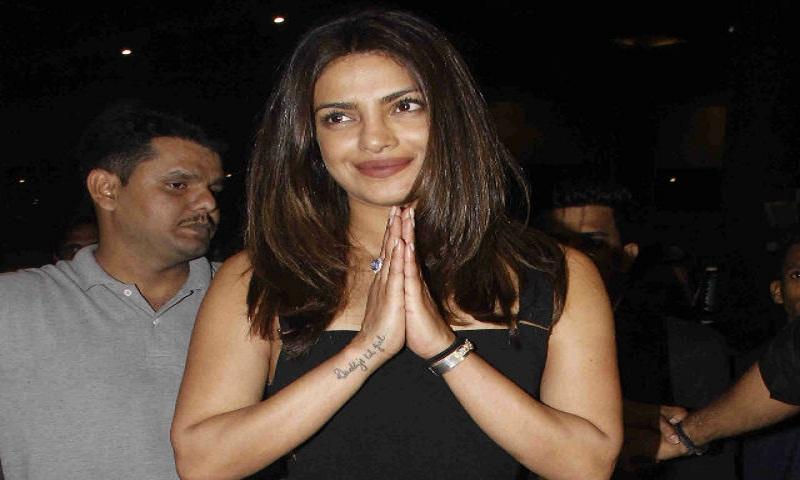 Priyanka Chopra returns to India