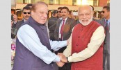 Modi, Nawaz Sharif exchange greetings at Astana summit