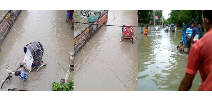 Chittagong city hits hard by incessant rain